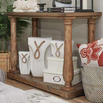 Malvern Hill Distressed Pine Console Table