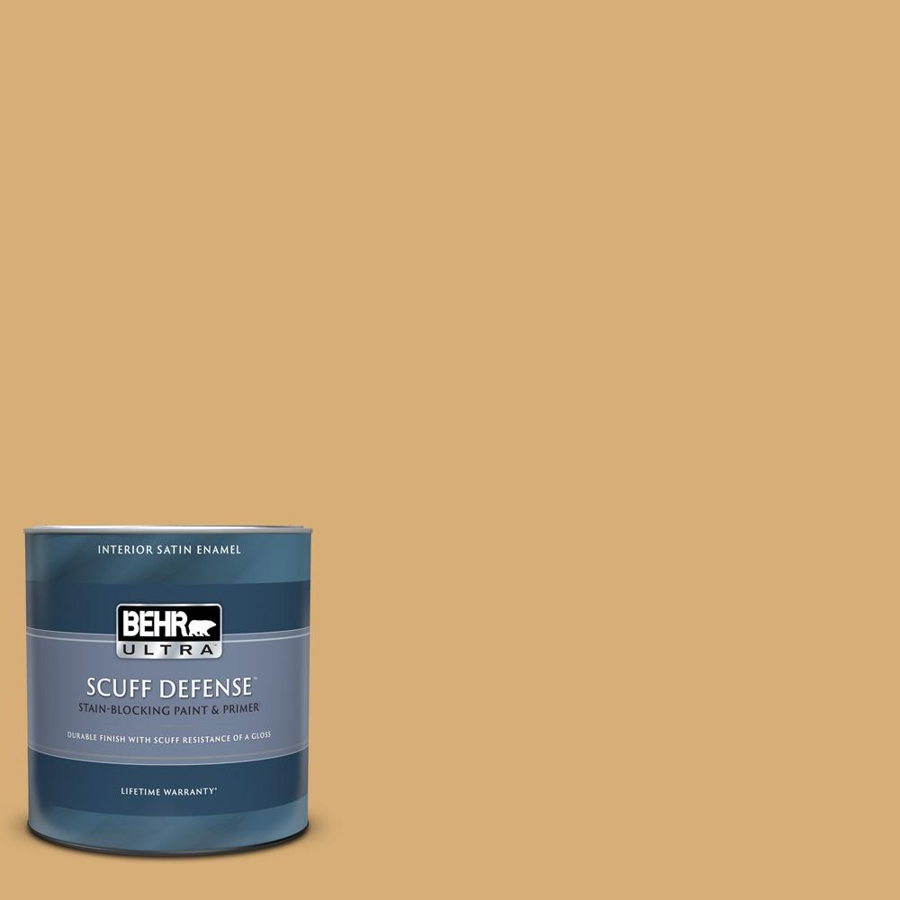 Behr Ultra 1 Qt M280 5 Inheritance Extra Durable Satin Enamel Interior Paint And Primer In One 775404 The Home Depot