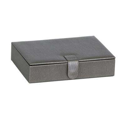 Berkley Pewter Faux Leather Jewelry Box