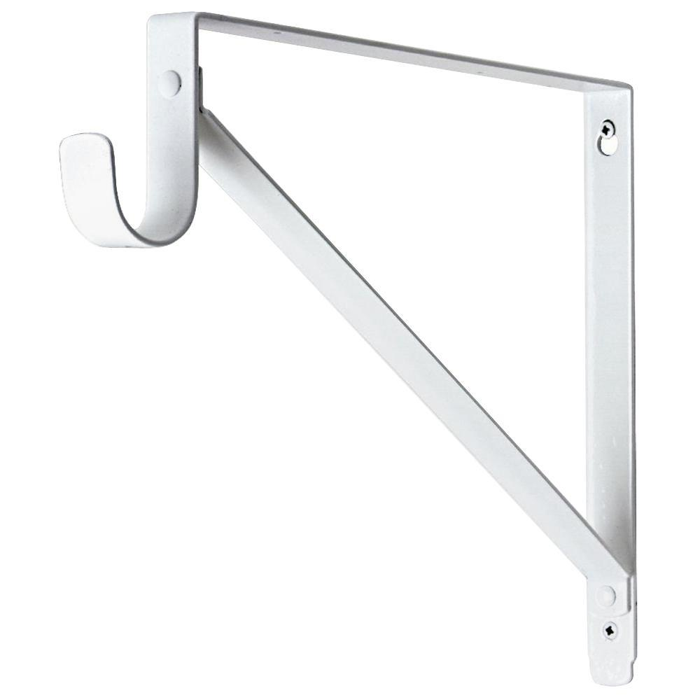 Lido Designs 1 5 16 In Powder Coated Steel White Finish Shelf And