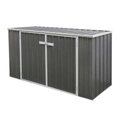 7 ft. x 2.5 ft Woodland Gray Horizontal Metal Shed