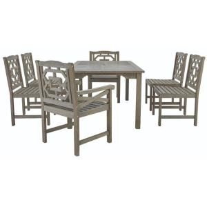 Captivating Martha Stewart Living Blue Hill 7 Piece All Weather Eucalyptus Wood Patio  Dining Set 9433500270   The Home Depot