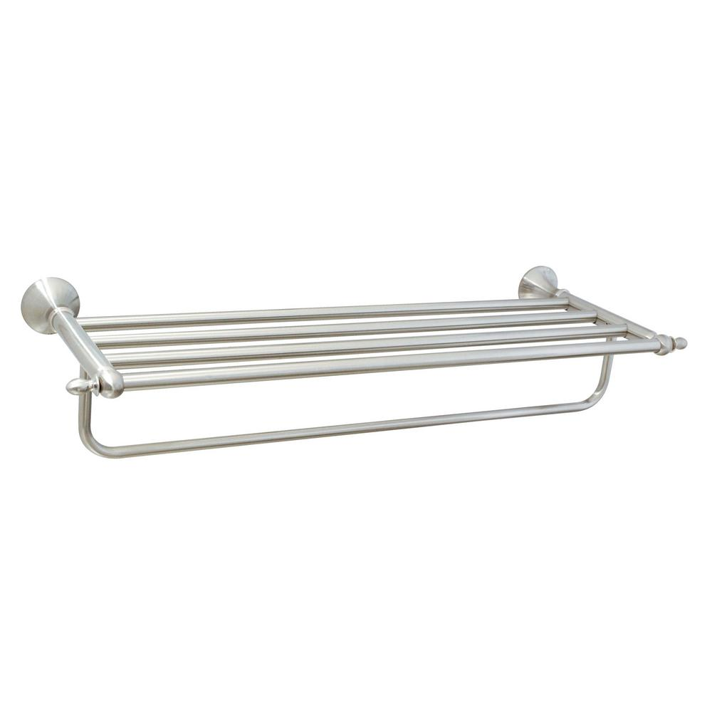 MODONA Antica 24 in. Towel Rack in Satin Nickel-4025-SN - The Home Depot
