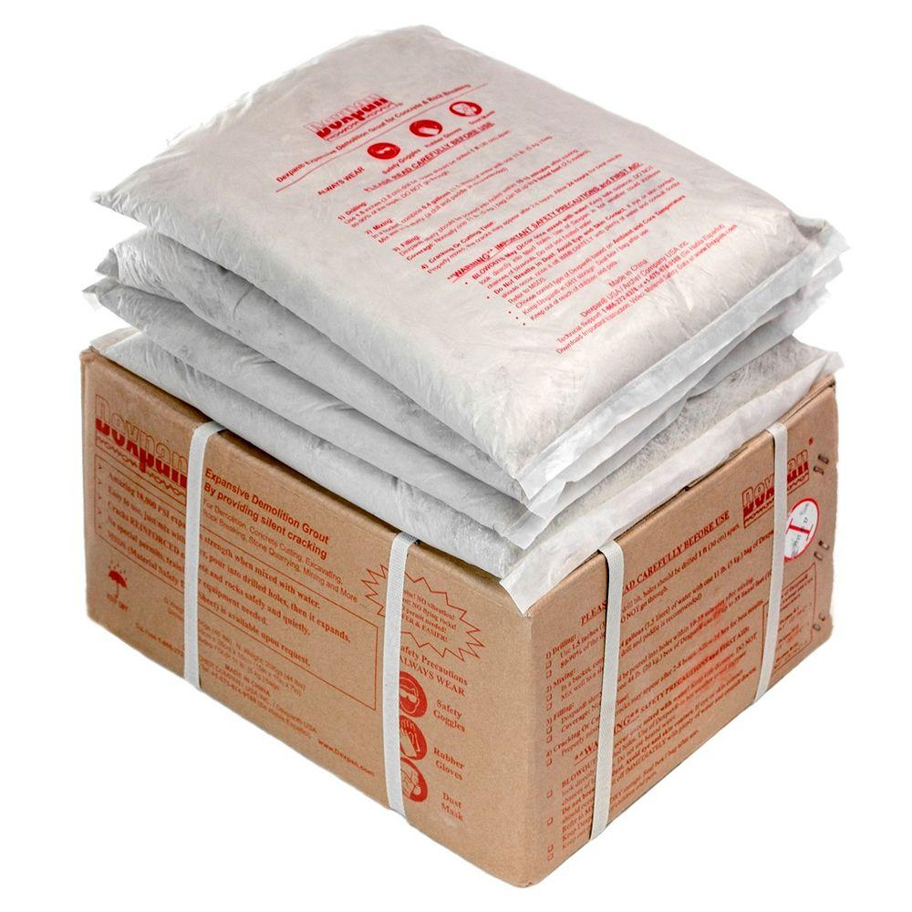 Dexpan 44 lb. Box Type 1 (77F-104F) Expansive Demolition Grout for Concrete Rock Breaking and Removal