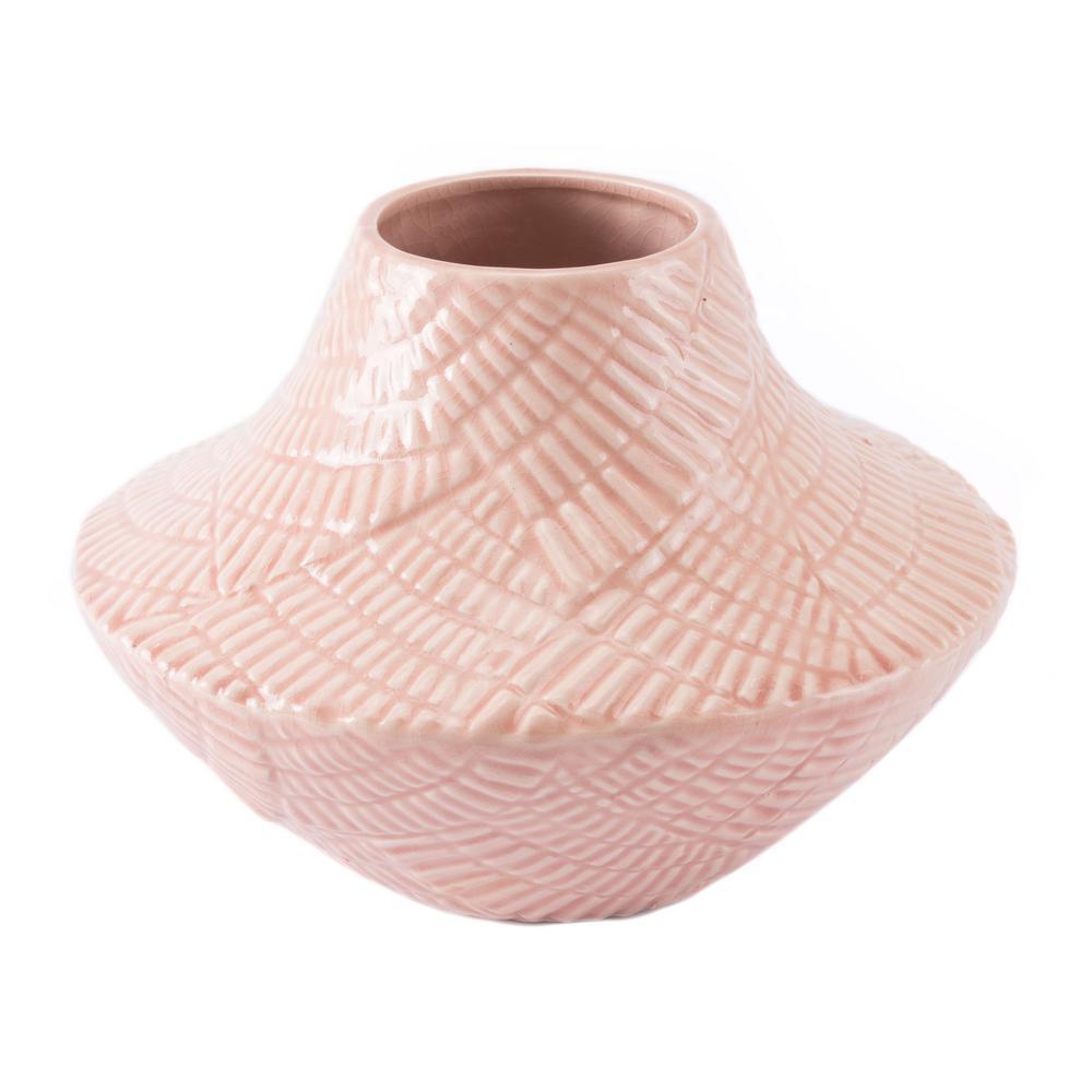 Pink Roco Short Decorative Vase