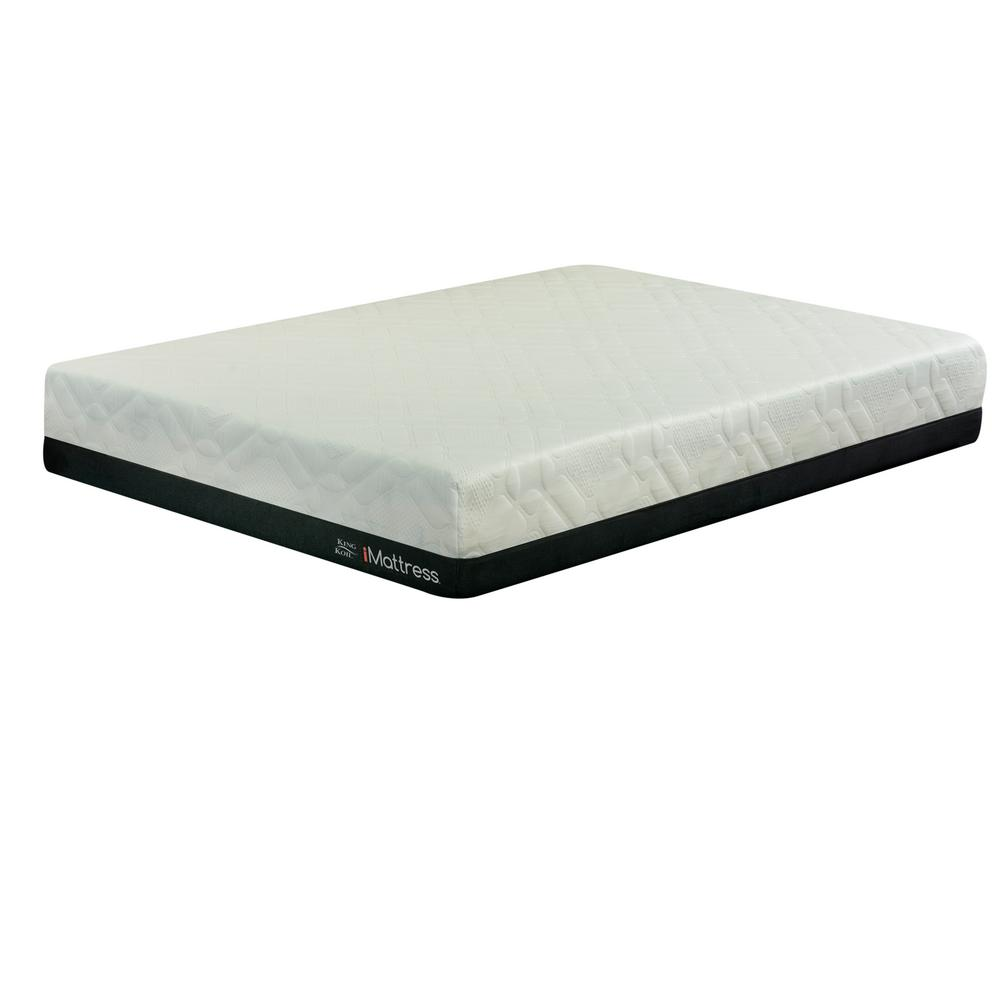 King Koil Express Comfort Hybrid Firm King Size 11 In Gel Memory Foam Mattress 811742043183