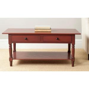 Safavieh Boris Red Storage Coffee Table Amh5706e The Home Depot
