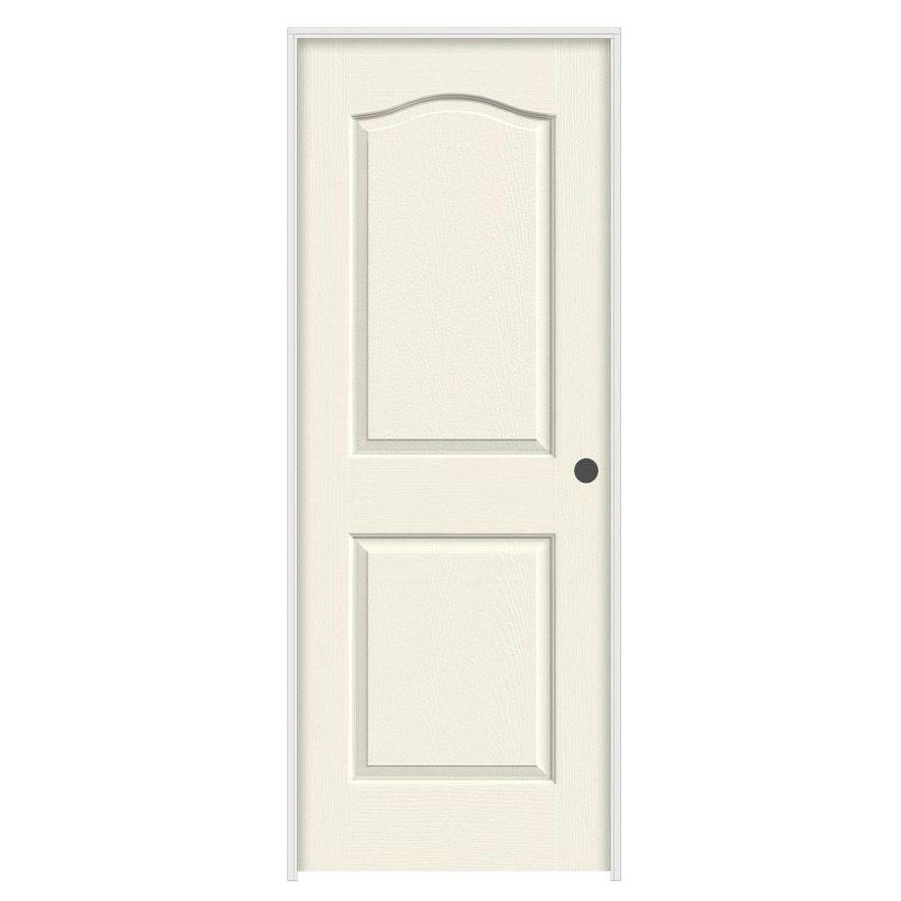 Jeld Wen 24 In X 80 In Princeton Vanilla Painted Left Hand Smooth Solid Core Molded Composite