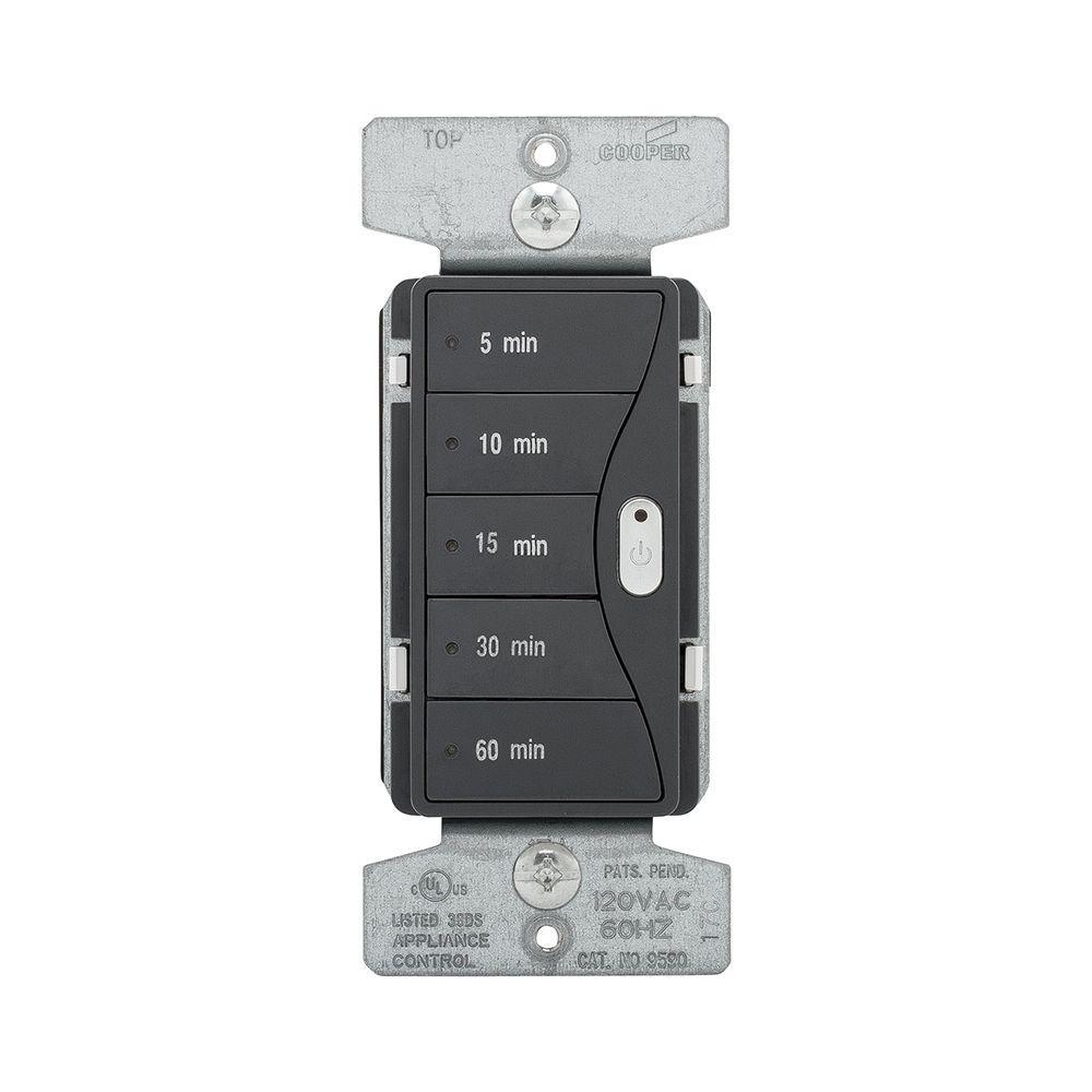 Aspire 1800-Watt 15 Amp 5-Button Minute Timer - Silver Granite