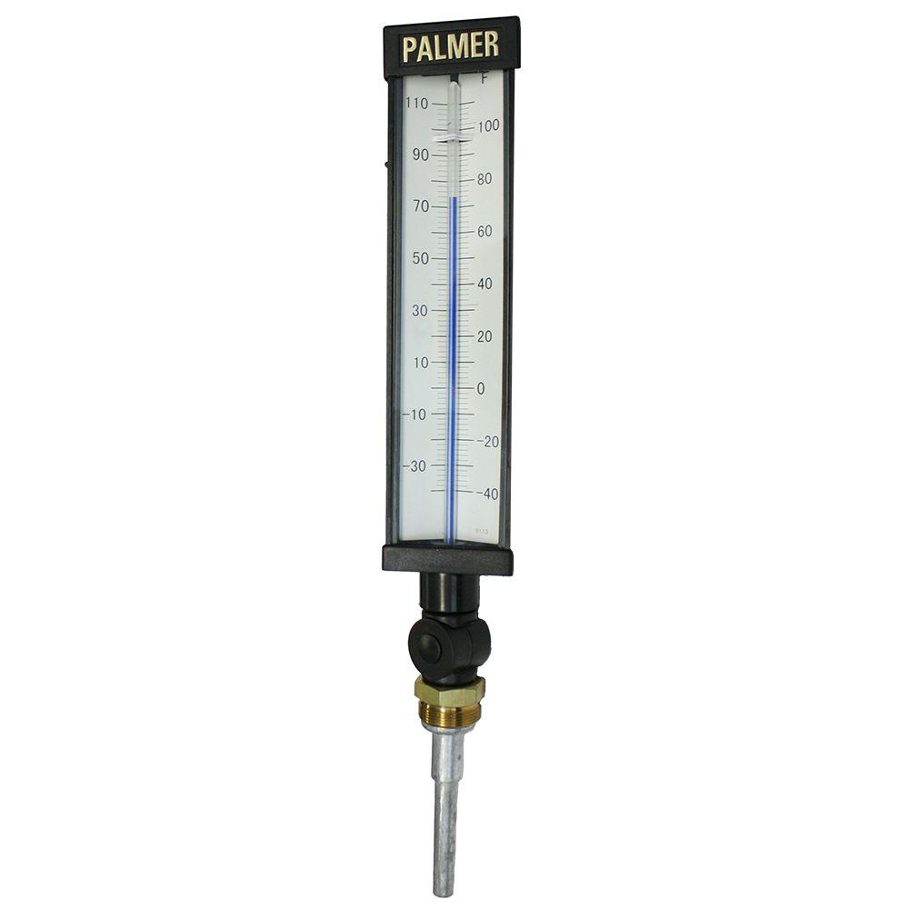 9 in. Scale Plastic Industrial Thermometer (-40 to 110 De...