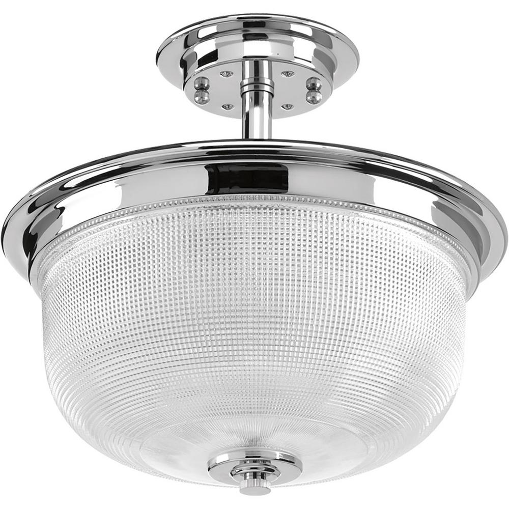 Home Decorators Collection 20 In 4 Light Chrome Semi Flushmount With Crystal Glass Branches