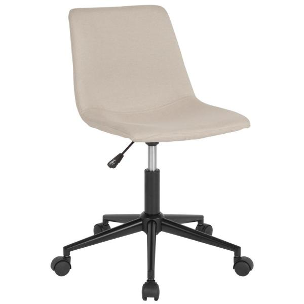 Flash Furniture Beige Fabric Office/Desk Chair CGA-DS-231699-BE-HD