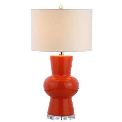 Julia 28.5 in. Coral Ceramic Table Lamp