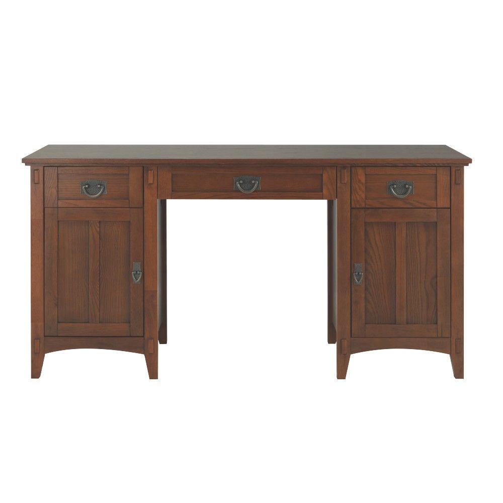 Artisan Medium Oak Secretary Desk with Storage