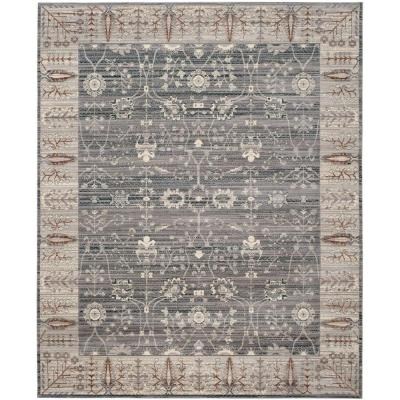 Valencia Dark Grey/Light Grey 8 ft. x 10 ft. Area Rug
