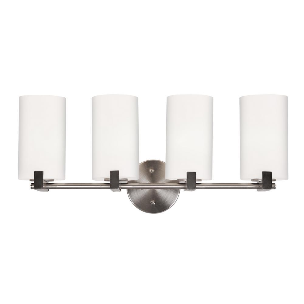 Eastport 4-Light Satin Nickel Indoor Vanity Light