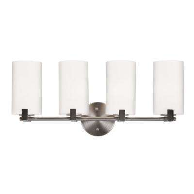 Eastport 4-Light Satin Nickel Indoor Vanity Light