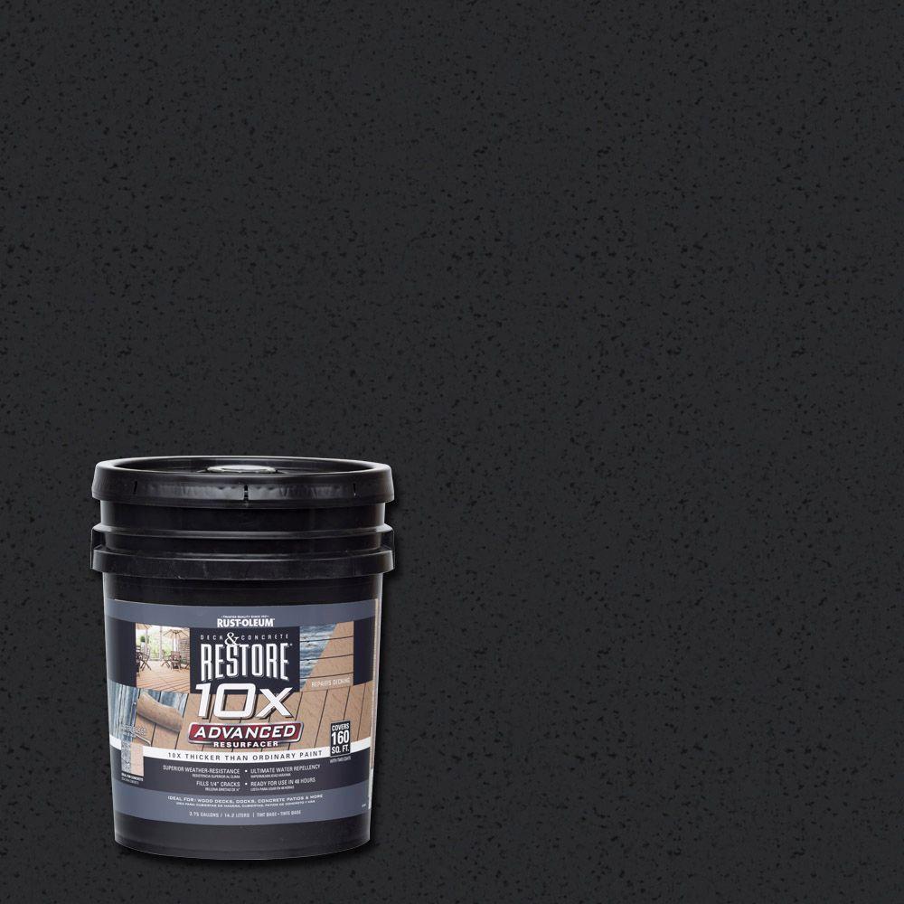 Rust-Oleum Restore 4 gal. 10X Advanced Black Deck and Con...