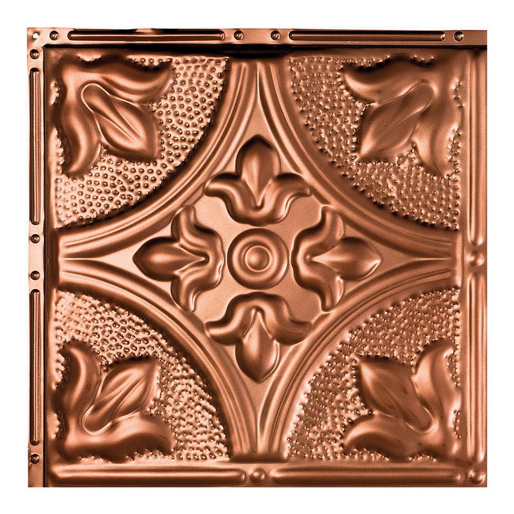 Jamestown Vintage Bronze 12 in. x 12 in. Nail-Up Ceiling Tile Sample