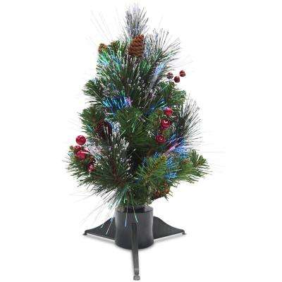 18 in. Fiber Optic Crestwood Spruce Artificial Christmas Tree
