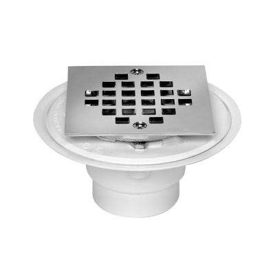 2 in. to 3 in. PVC Shower Low Profile Square Drain