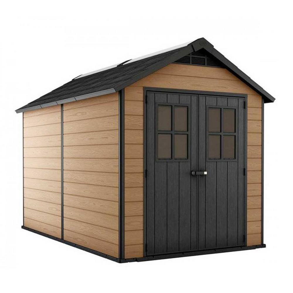 Keter Newton 7.5 ft. x 11 ft. Resin Storage Shed