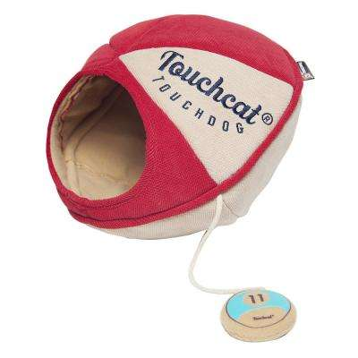 Red Saucer Oval Collapsible Walk-Through Pet Cat House Bed