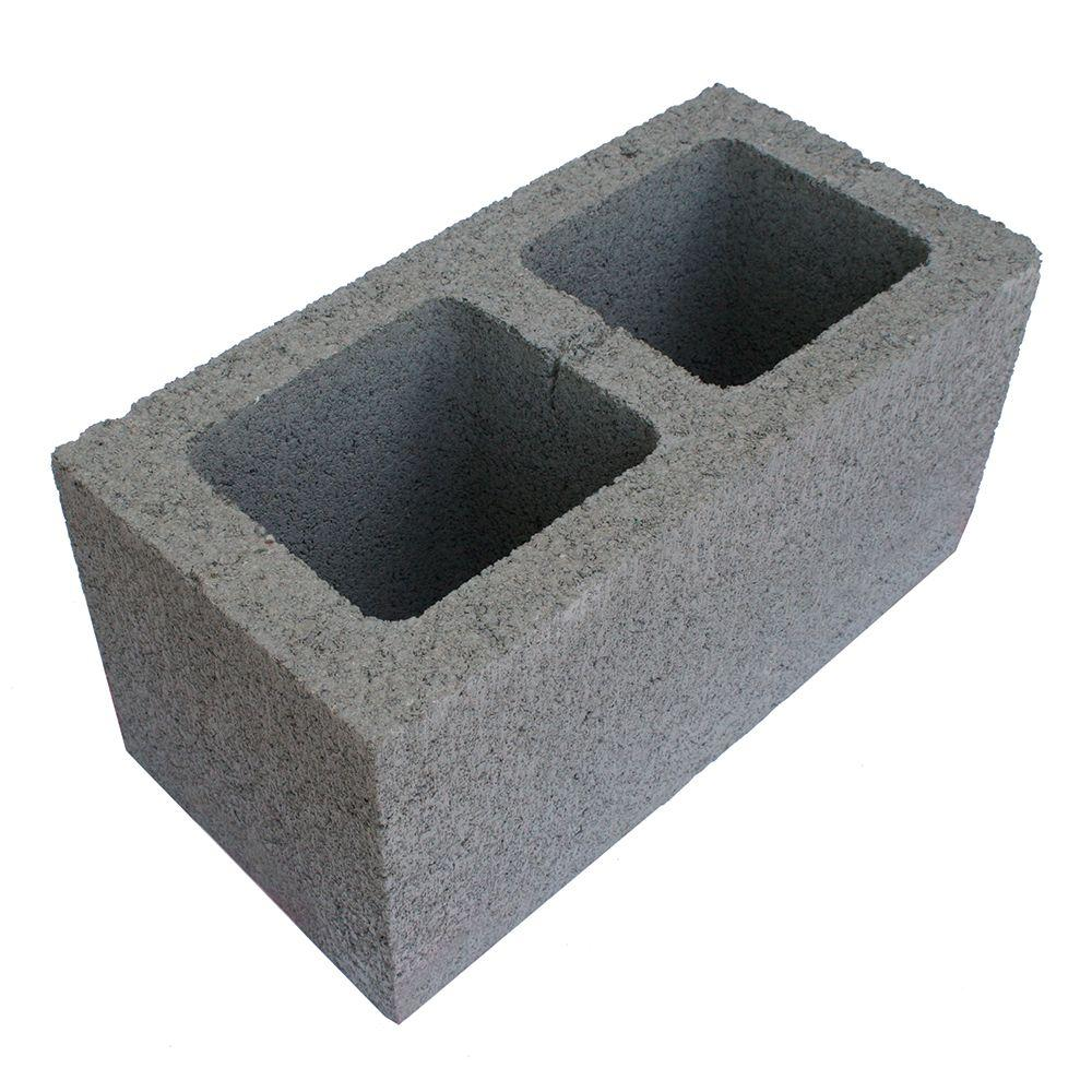 8 in. x 16 in. x 8 in. Grey Concrete Block