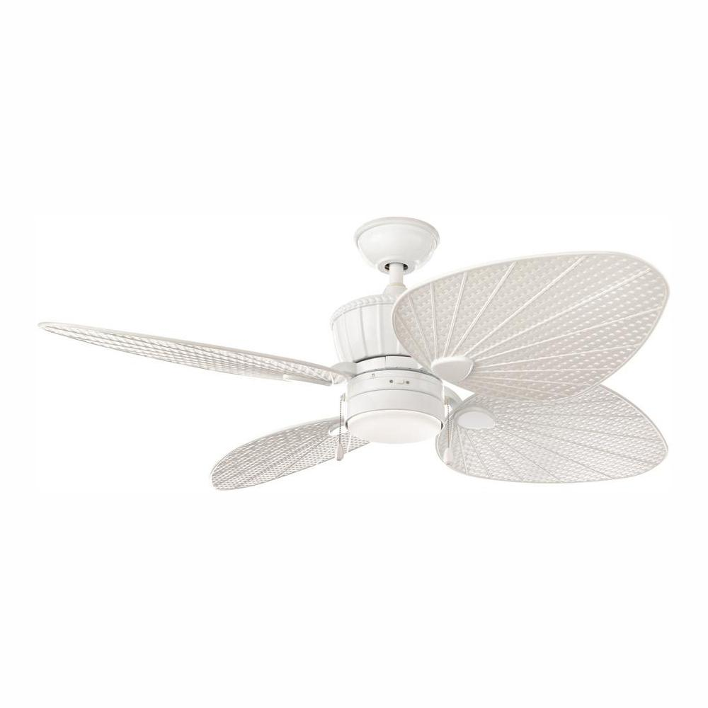 Home Decorators Collection Pompeo 52 in. Integrated LED Indoor/Outdoor White Ceiling Fan with Light Kit