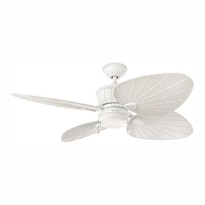 Pompeo 52 in. Integrated LED Indoor/Outdoor White Ceiling Fan with Light Kit