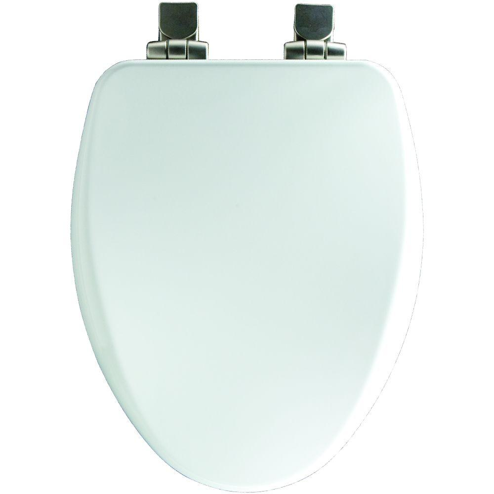 Elongated Closed Front Toilet Seat in Cotton White