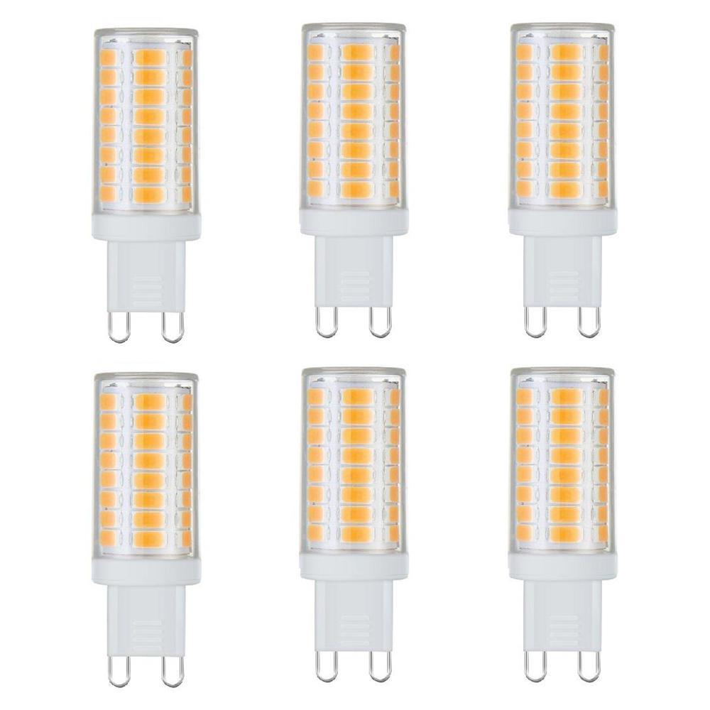 40-Watt Equivalent G9 Base Dimmable Soft White LED Light Bulb (6-Pack)