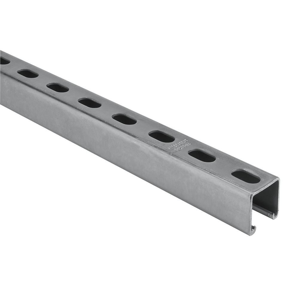 6 ft. 12-Gauge Electro-Galvanized Half Slot Steel Strut Channel