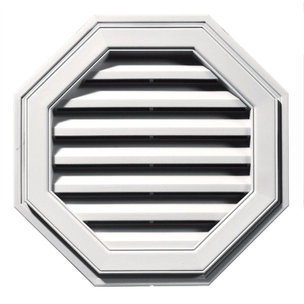 Builders Edge 22 in. Octagon Gable Vent in Bright White