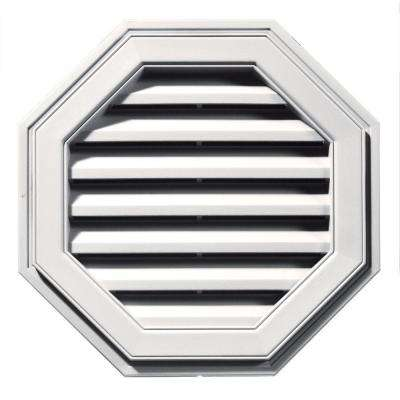 22 in. Octagon Gable Vent in Bright White