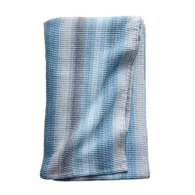 Prism Blue Cotton King Woven Blanket
