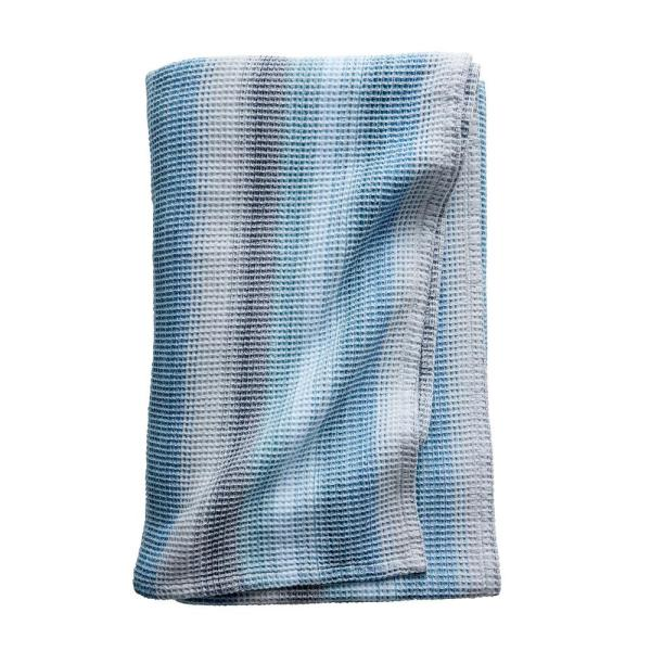 The Company Store Prism Blue Queen Cotton Blanket 85012-Q-BLUE