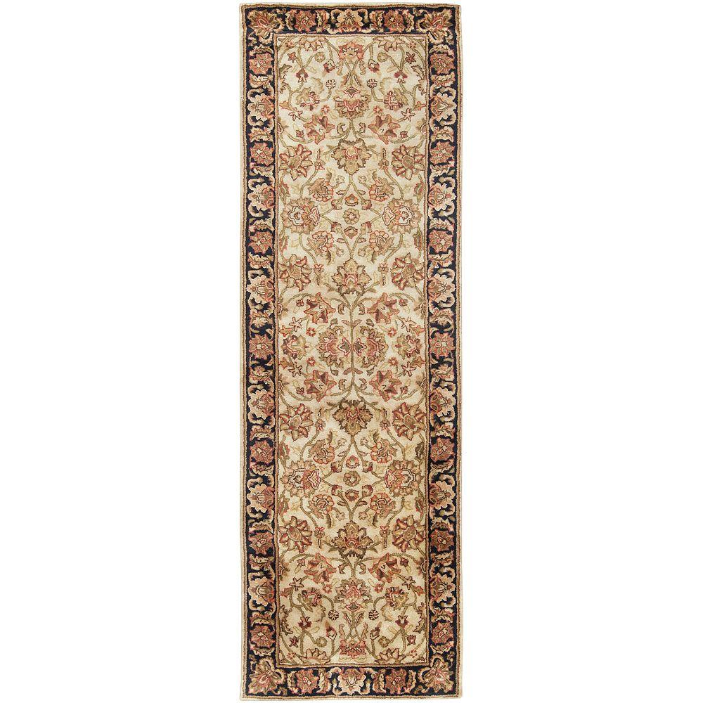 Feroza Beige 2 ft. 6 in. x 8 ft. Rug Runner