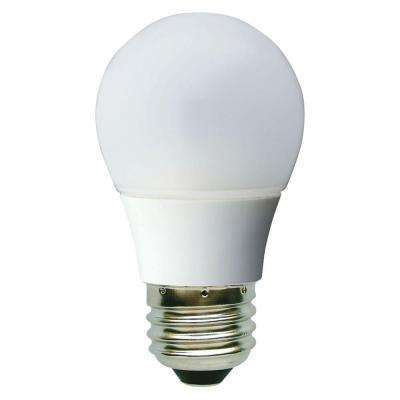 40W Equivalent Daylight (5000K) A15 White Ceiling Fan Dimmable LED Light Bulb