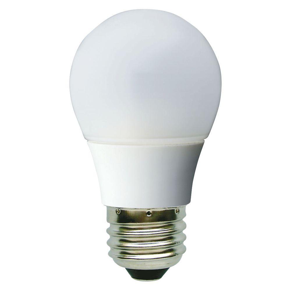 GE 20W Equivalent Soft White (2900K) A15 White Ceiling Fan LED Light Bulb