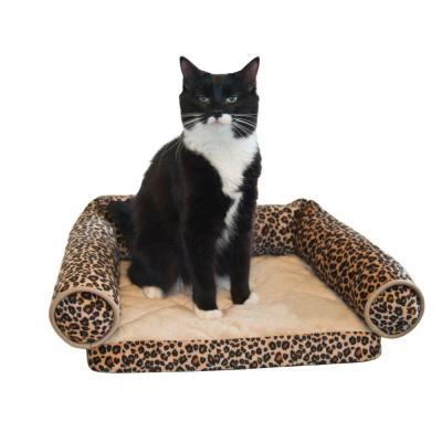 Lazy Lounger Small Leopard Cat Bed