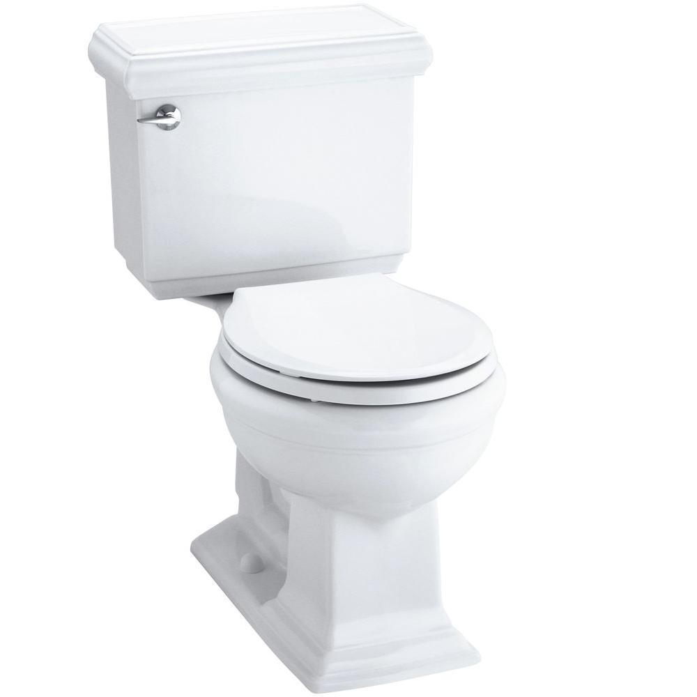 Awesome Kohler Memoirs Classic Comfort Height 2 Piece 1 28 Gpf Single Flush Round Front Toilet In White Cachet Q3 Toilet Seat Included Theyellowbook Wood Chair Design Ideas Theyellowbookinfo