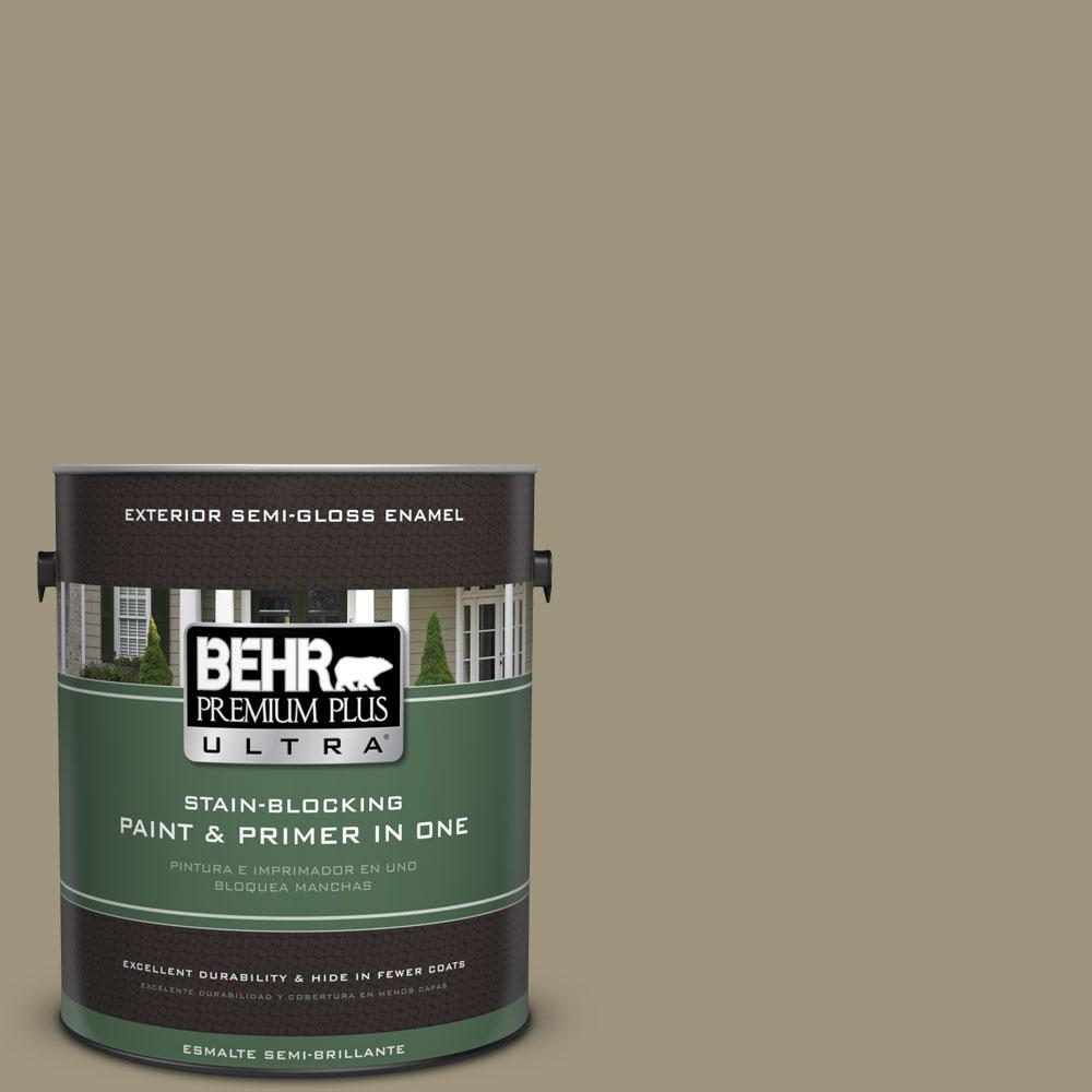 BEHR Premium Plus Ultra 1-gal. #760D-5 Shortgrass Prairie Semi-Gloss Enamel Exterior Paint