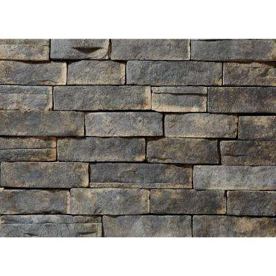 Ledgestone Ash Corners 26-3/4 in. x 16 in. 8 lin. ft. Manufactured Stone (24-Piece per Carton)