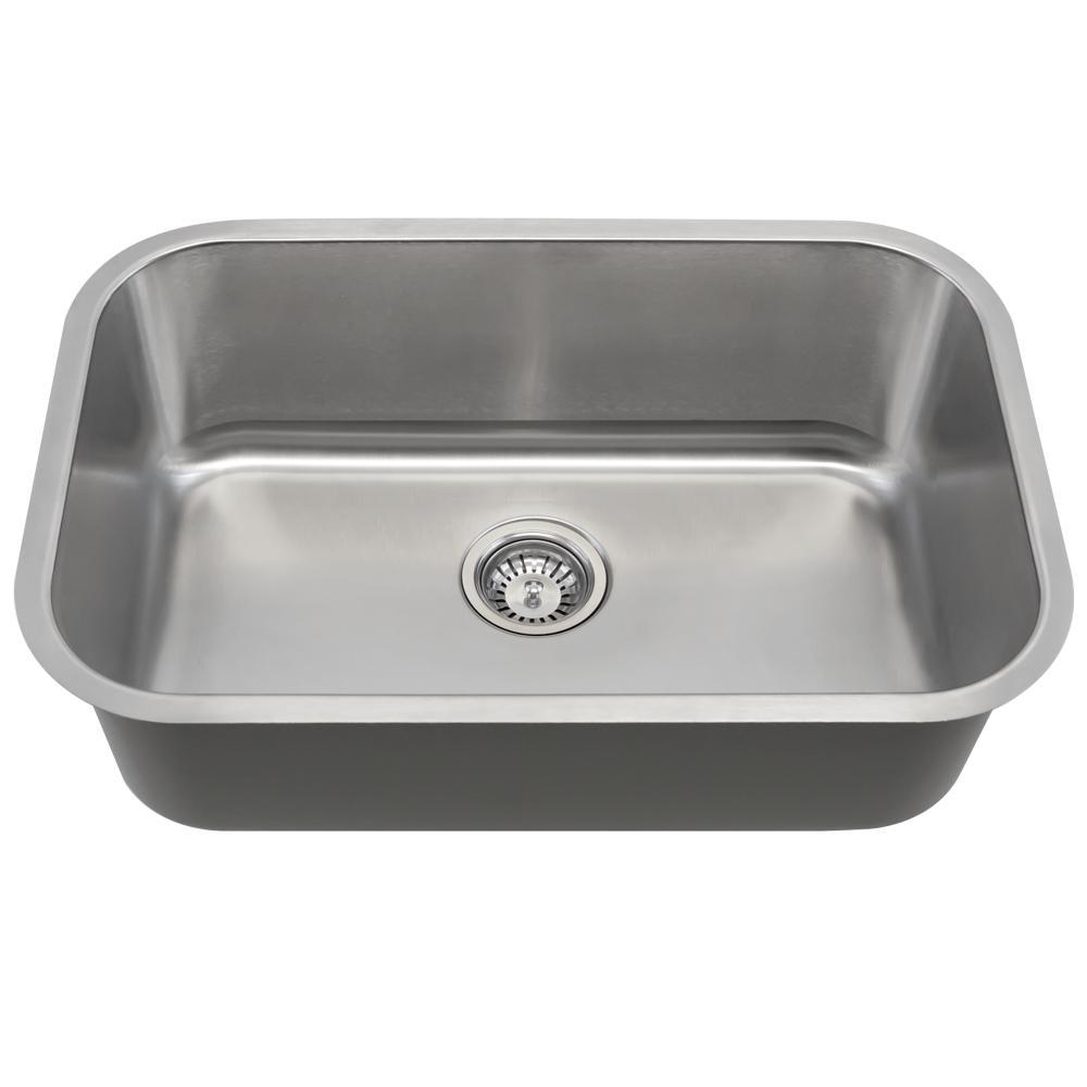 Mr Direct Undermount Stainless Steel 27 In Single Bowl Kitchen Sink 16 Gauge