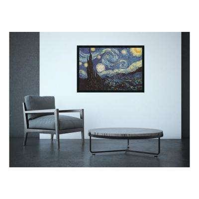 38 in. x 26 in. Outer Size The Starry Night, June 1889 by Vincent van Gogh Framed Art Print