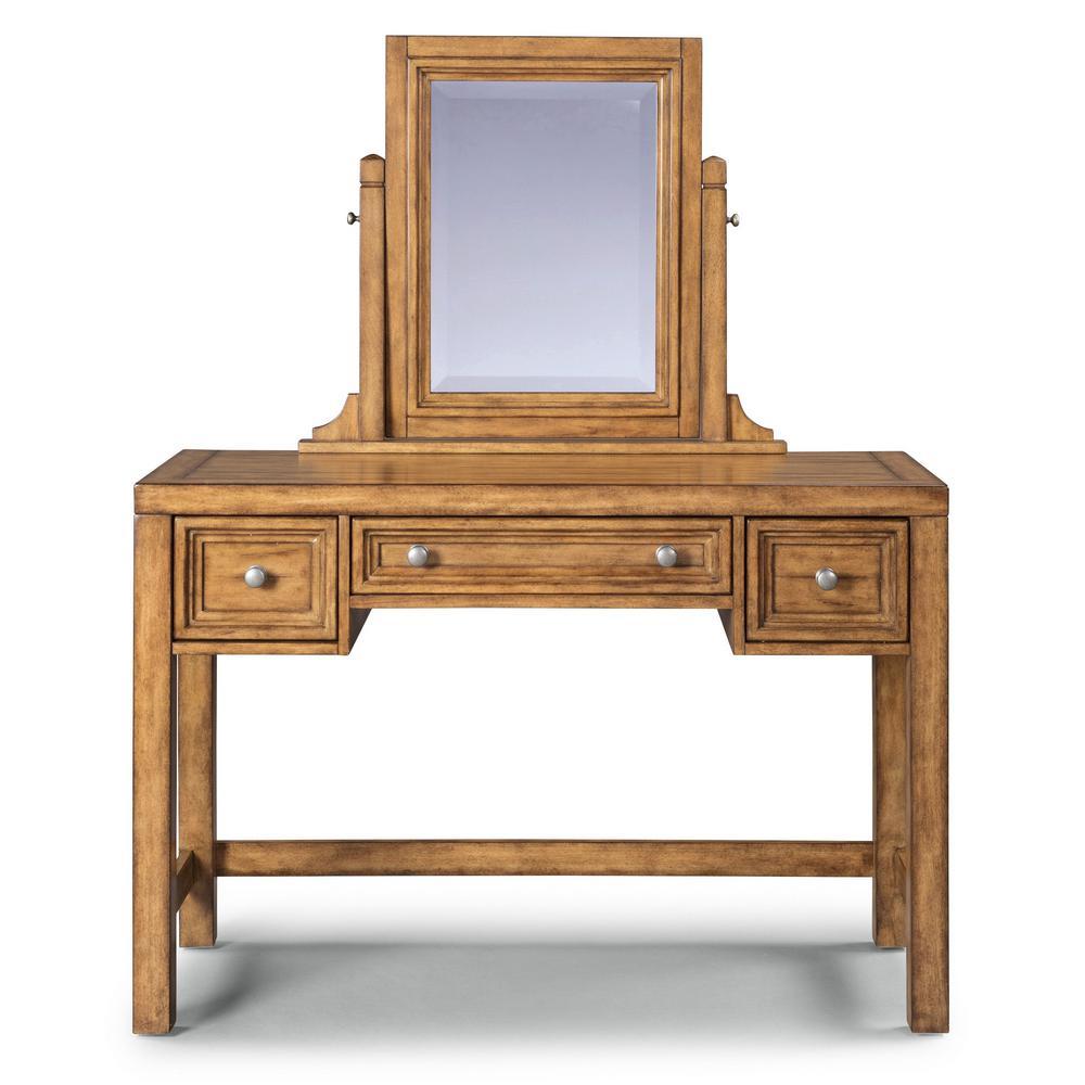 Sedona Toffee Brown Vanity and Mirror