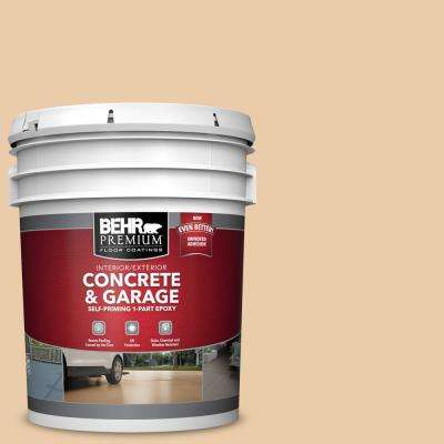 5 gal. #PFC-21 Grain Self-Priming 1-Part Epoxy Satin Interior/Exterior Concrete and Garage Floor Paint
