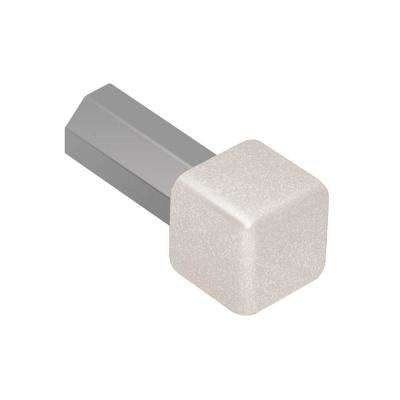 Quadec Ivory Textured Color-Coated Aluminum 3/8 in. x 1 in. Metal Inside/Outside Corner