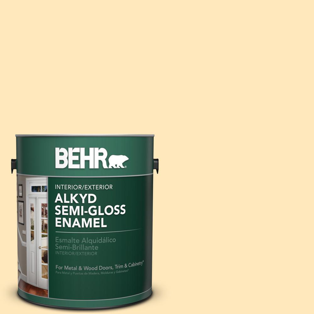 1 gal. #P270-2 September Morning Semi-Gloss Enamel Alkyd Interior/Exterior Paint